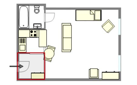 plan appartement studio