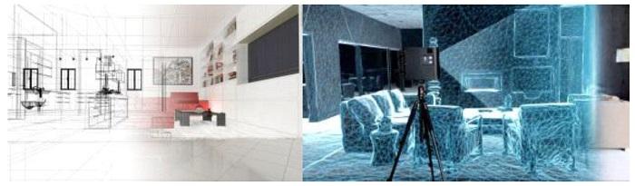 les scans Matterport sont traduits en visualisation 3D