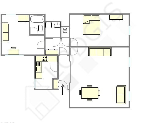 Appartement Paris 16° - Plan interactif