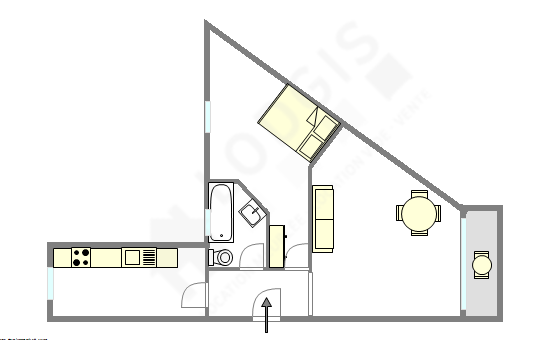 Appartement Paris 19° - Plan interactif