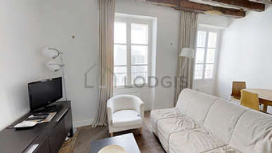 Hôtel de Ville – Beaubourg Париж 4° 1 спальня Квартира