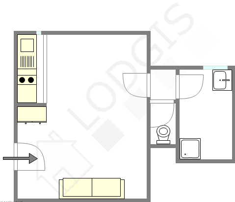 Apartamento París 18° - Plano interactivo