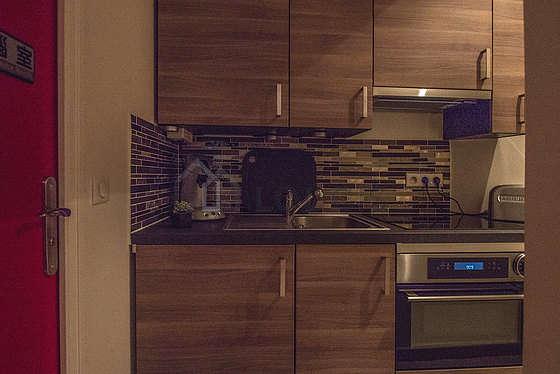 Belle cuisine de 0m² avec du parquet au sol