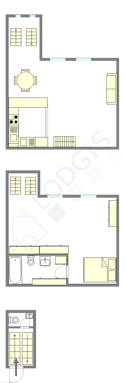 雙層公寓 巴黎6区 - 互動圖