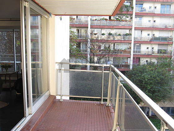 Balcony facing due west and view on road