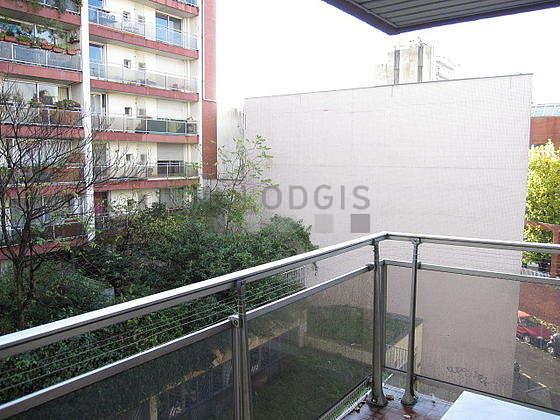 Bright balcony with tile floor