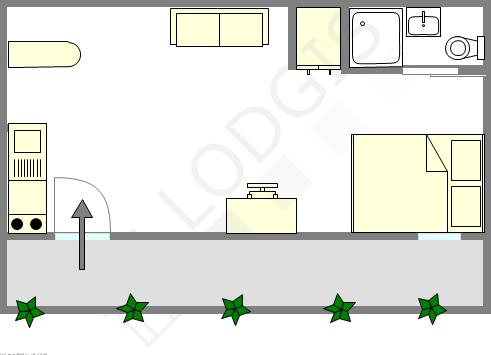 公寓 Val de marne sud - 平面图