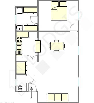 公寓 Haut de seine Nord - 互動圖