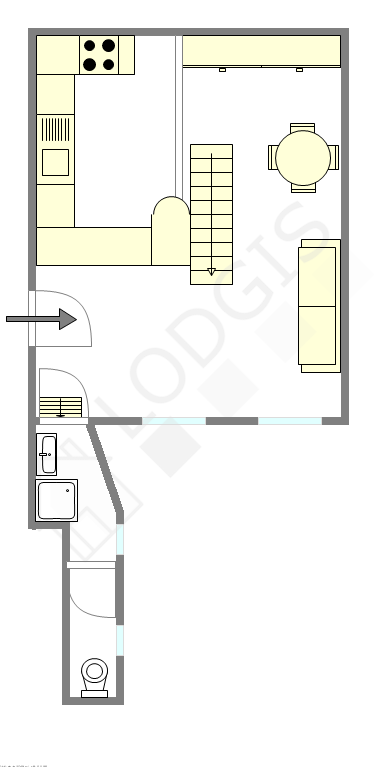 Appartement Paris 4° - Plan interactif