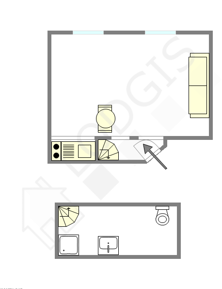 Квартира Париж 16° - Интерактивный план