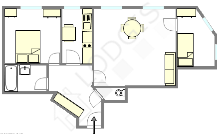 Appartement Paris 5° - Plan interactif