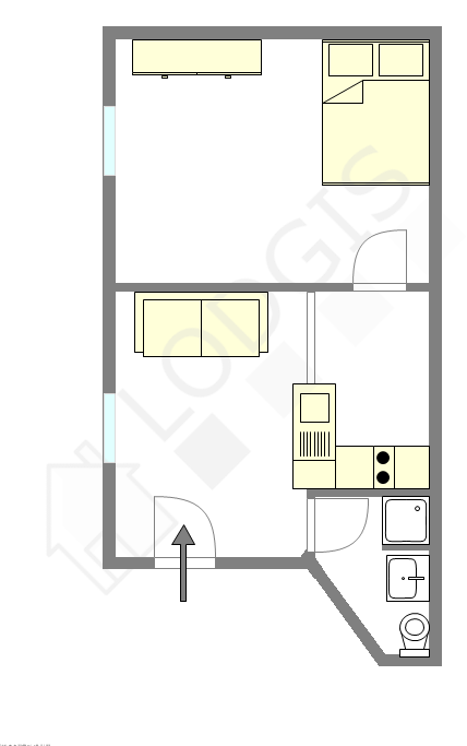 Wohnung Paris 3° - Interaktiven Plan