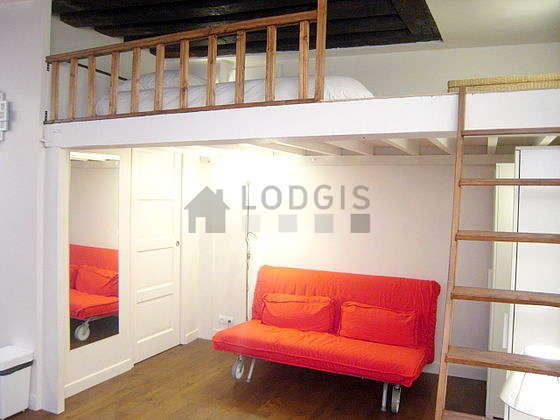 Séjour très calme équipé de 1 lit(s) mezzanine de 140cm, 1 canapé(s) lit(s) de 160cm, téléviseur, armoire
