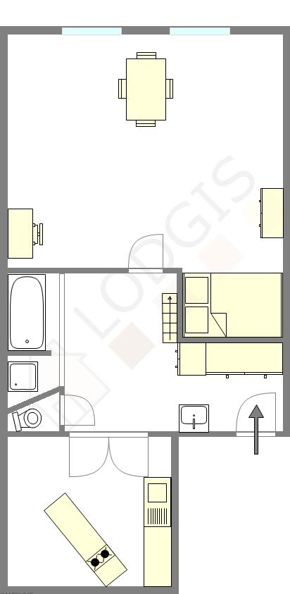 Apartment Paris 6° - Interactive plan