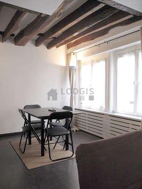 Séjour très calme équipé de 1 canapé(s) lit(s) de 140cm, téléviseur, chaine hifi, 4 chaise(s)