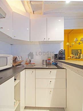 Beautiful kitchen of 2m² with linoleum floor