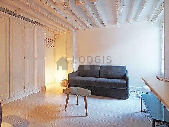 Séjour très calme équipé de 1 canapé(s) lit(s) de 140cm, téléviseur, penderie, 1 chaise(s)
