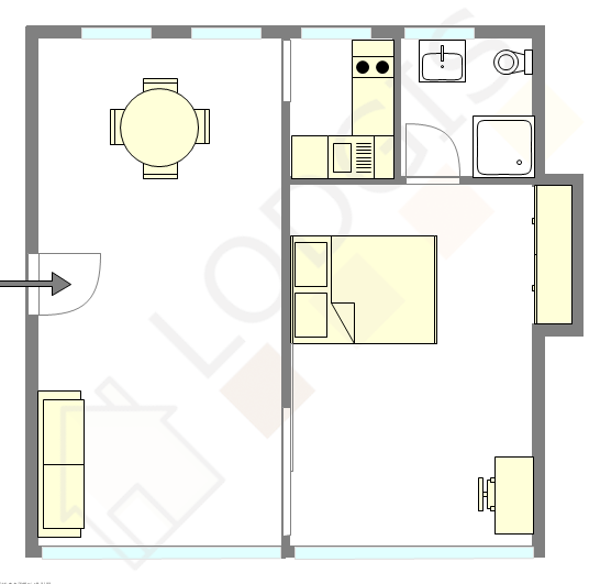 Wohnung Paris 2° - Interaktiven Plan