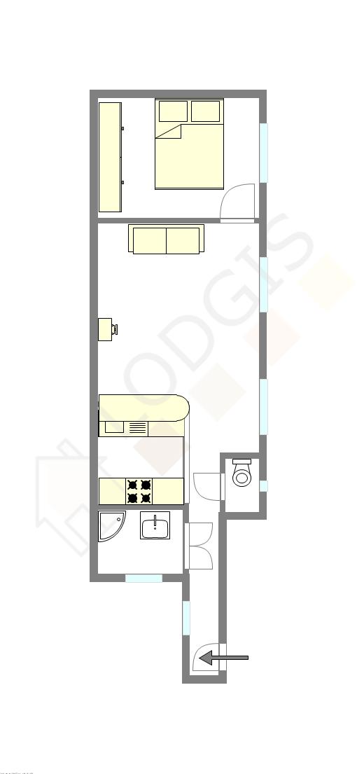 Apartamento Paris 18° - Plano interativo