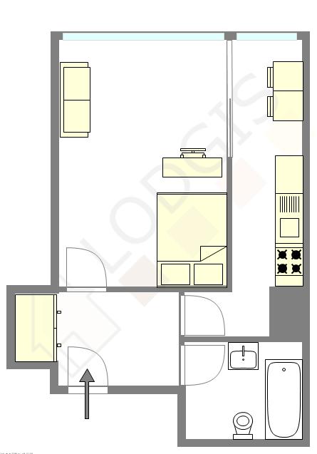 公寓 巴黎16区 - 互動圖