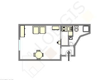 Appartement Paris 9° - Plan interactif