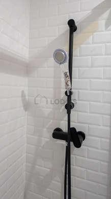 Beautiful bathroom with tile floor