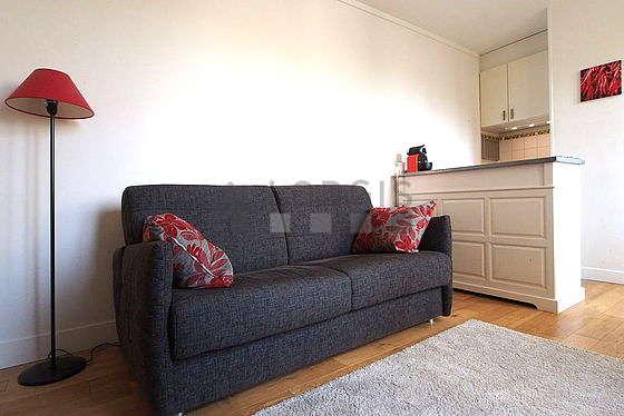 Séjour très calme équipé de 1 canapé(s) lit(s) de 140cm, téléviseur, lecteur de dvd, 1 fauteuil(s)