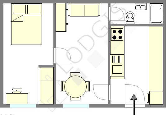 Appartement Paris 12° - Plan interactif