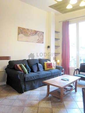 Quiet living room furnished with 1 sofabed(s) of 160cm, home cinema, tv, 1 armchair(s)