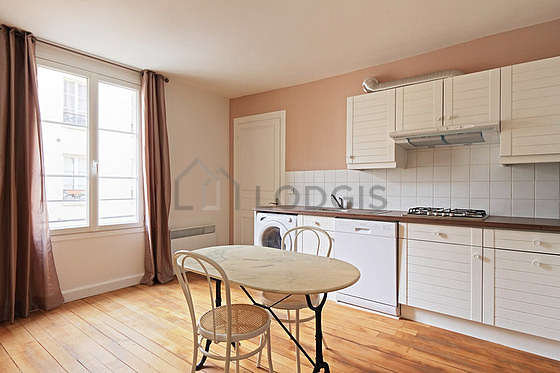 Very quiet living room furnished with dining table, 2 chair(s)