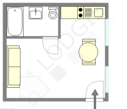 Apartment Paris 11° - Interactive plan