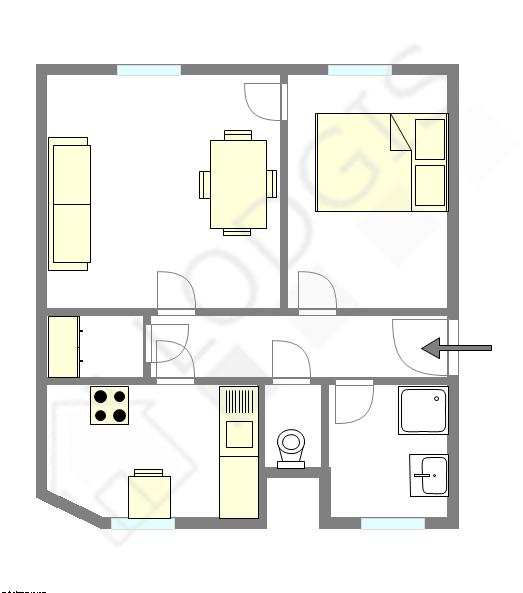 公寓 巴黎8区 - 互動圖
