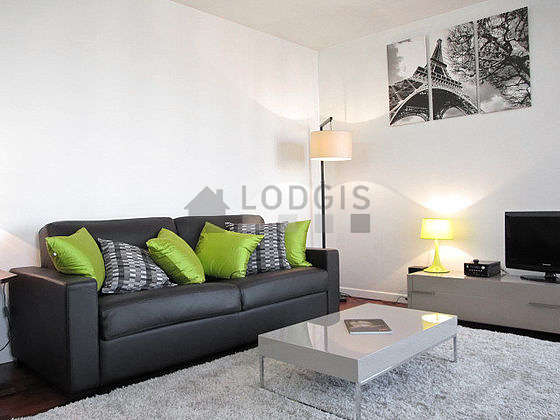 Very quiet living room furnished with 1 sofabed(s) of 160cm, tv, hi-fi stereo, 1 armchair(s)