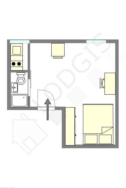 公寓 巴黎3区 - 平面图