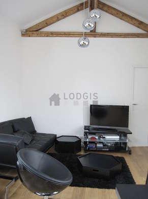 Living room with wooden floor