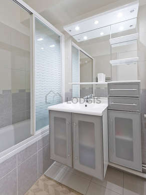 Bathroom equipped with bath tub