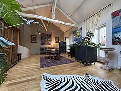 双层公寓 巴黎5区 - 客厅