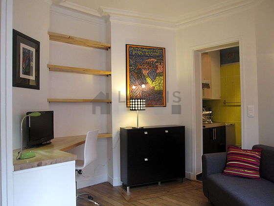 Séjour très calme équipé de 1 canapé(s) lit(s) de 140cm, 1 lit(s) mezzanine de 140cm, téléviseur, chaine hifi