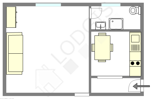 Appartement Paris 10° - Plan interactif