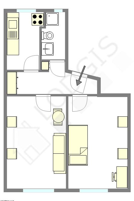 Квартира Seine st-denis Nord - Интерактивный план