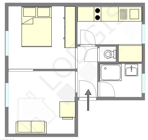 Apartamento París 19° - Plano interactivo