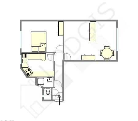 Appartement Paris 13° - Plan interactif