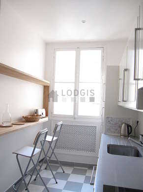 Beautiful kitchen of 9m² with tile floor