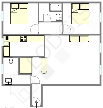 Wohnung Paris 11° - Interaktiven Plan