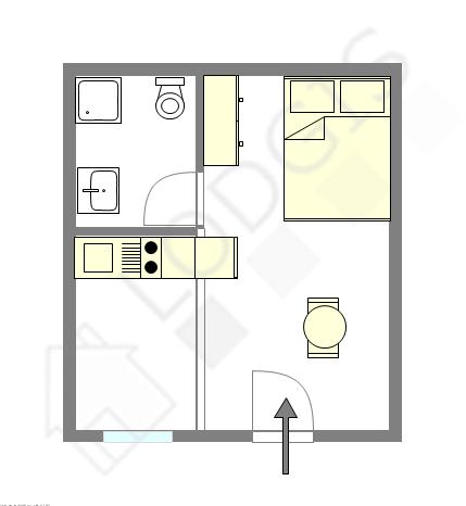 Квартира Париж 1° - Интерактивный план