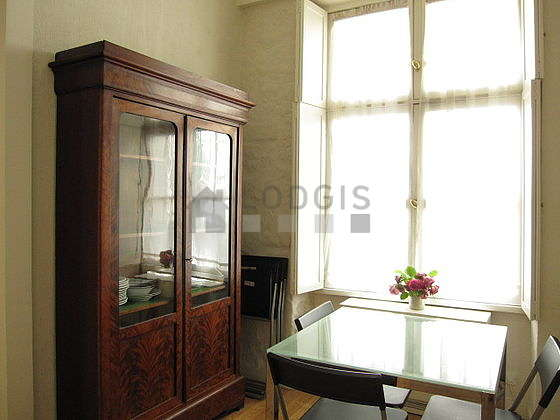 Beautiful dining room with wooden floor for 3 person(s)
