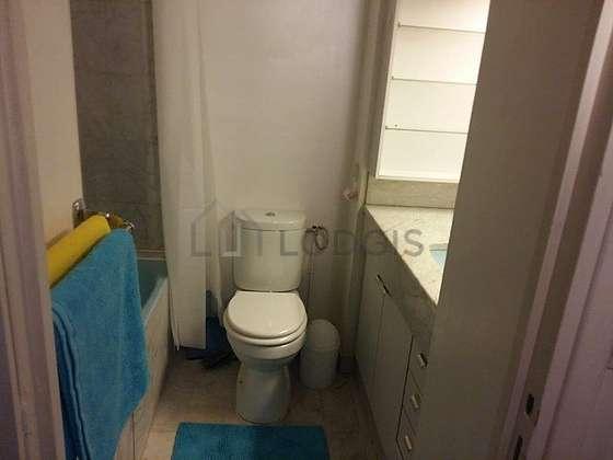 Bathroom with marble floor
