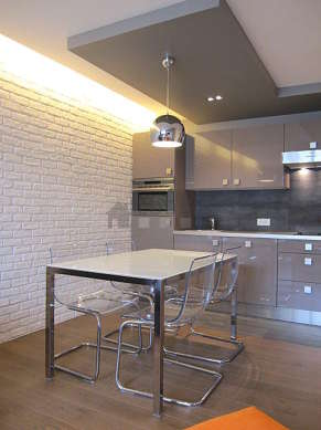 Great kitchenopens on the living room with tile floor