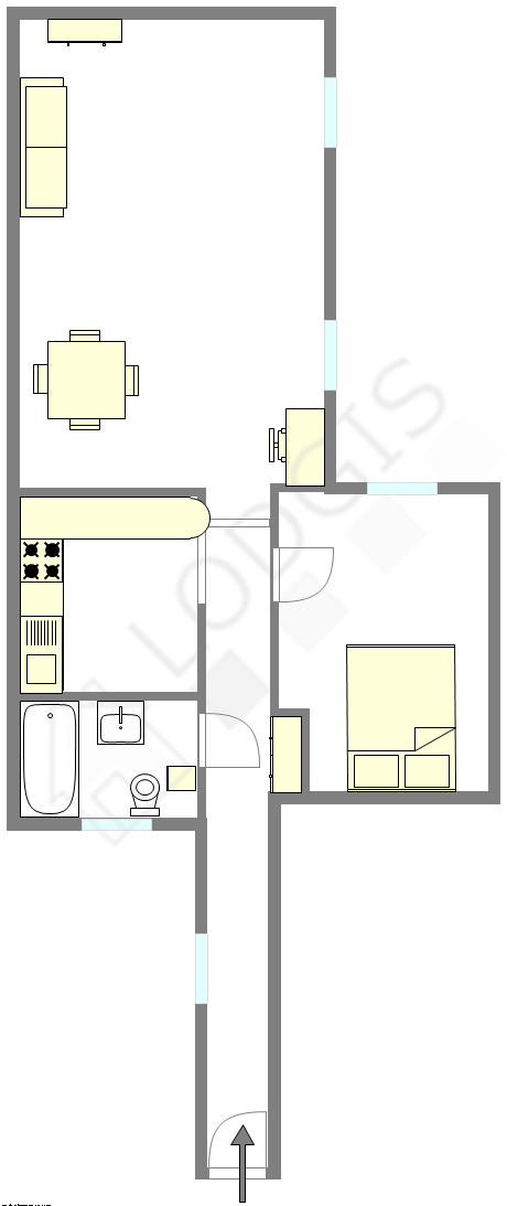 Apartamento Haut de seine Nord - Plano interativo
