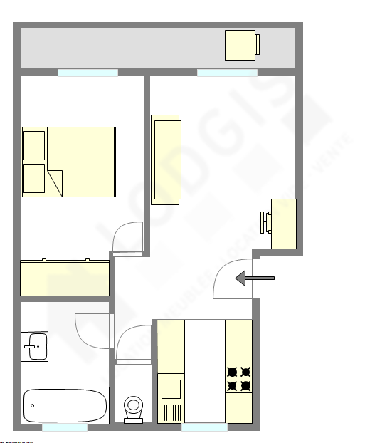 公寓 巴黎20区 - 互動圖